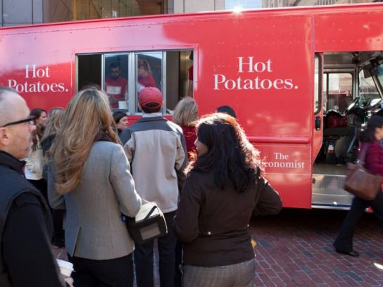 The Economist Ambient Ad -  Hot Potato Truck