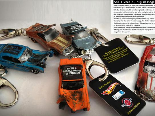 Hot Wheels Direct Ad -  Don't drink & drive key chains