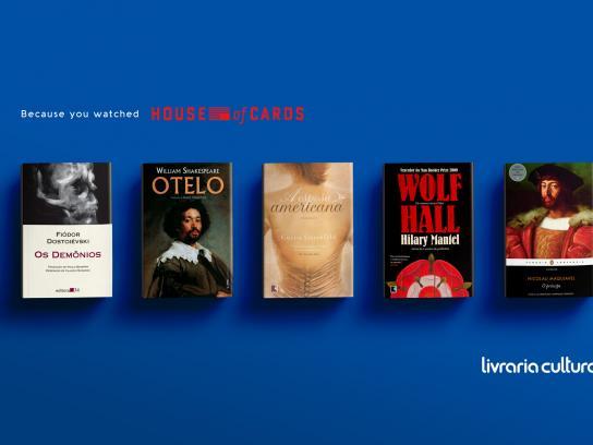 Livraria Cultura Print Ad - House of cards