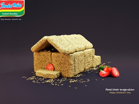 Indomie Noodles Print Ad - Feed Their Imagination