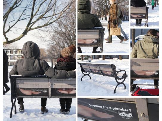 Hoyles Plumbing Ambient Ad -  Bench