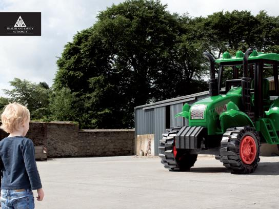 The Health and Safety Authority Print Ad -  Tractor