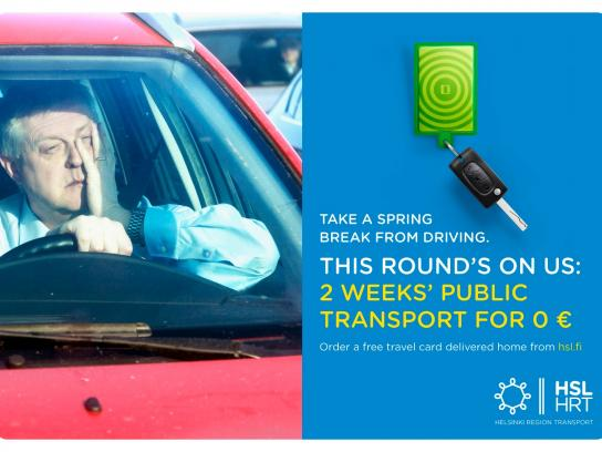 Helsinki Region Transport Print Ad -  Take a spring break from driving, 6