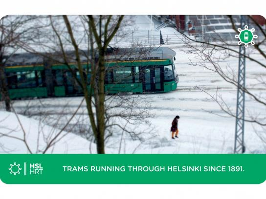 Helsinki Region Transport Outdoor Ad -  Tram