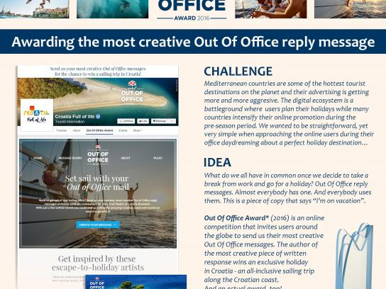 Croatian National Tourist Board Digital Ad - Out of Office Award