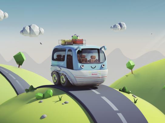 Huggies Outdoor Ad - Bus