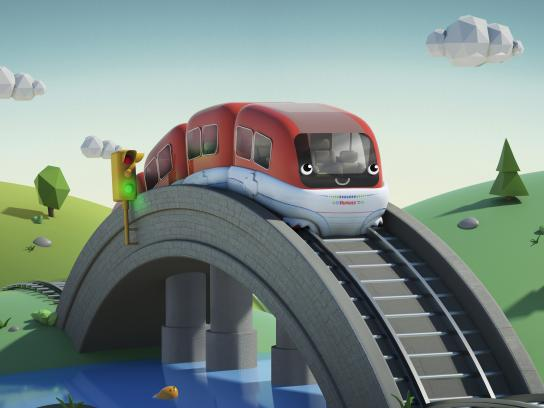 Huggies Outdoor Ad - Train