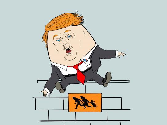 Trump Fiction Outdoor Ad - Humpty Dumpty
