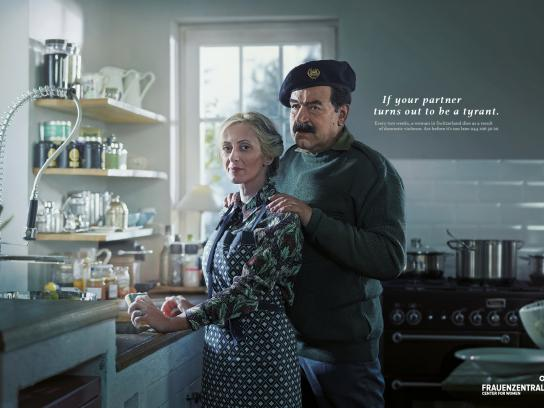 Frauenzentrale Print Ad -  Saddam
