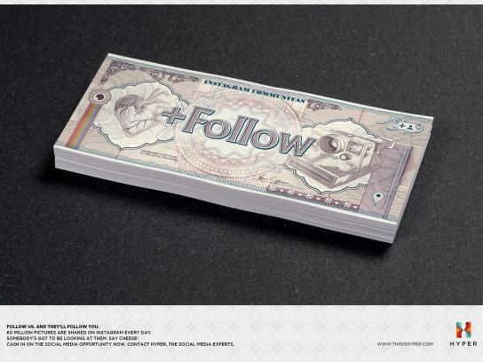 Hyper Print Ad -  Follow