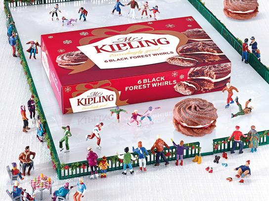 Mr Kipling Print Ad -  Ice Skating