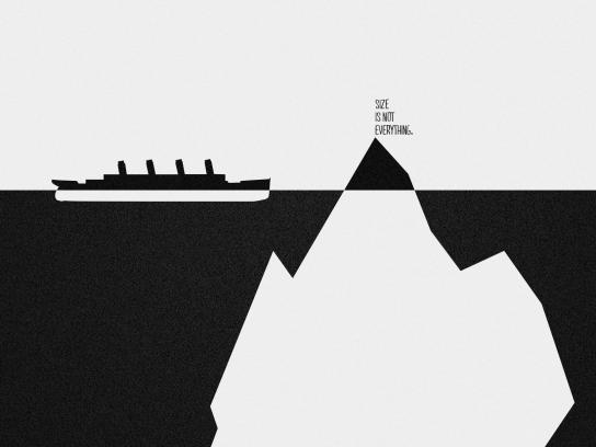 Halls Print Ad - Iceberg