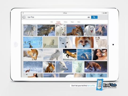 Kids-Tab Print Ad -  Ice fox