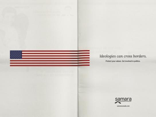 Samara Print Ad - Ideologies Can Cross Borders