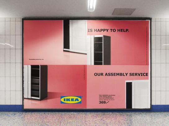 IKEA Outdoor Ad -  Assembly Fail - Wardrobe