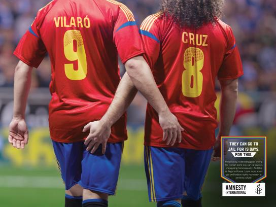 Amnesty International Print Ad - Illegal Celebration - Spain