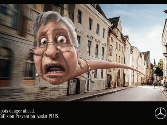 Mercedes Print Ad - Granny