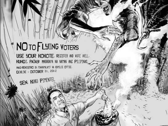 Senator Koko Pimentel Outdoor Ad -  Manananggal