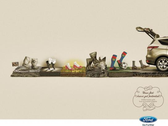 Ford Print Ad -  Your feet have got potential