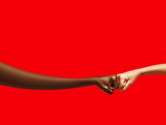 Coca-Cola Outdoor Ad -  Fist bump, 1