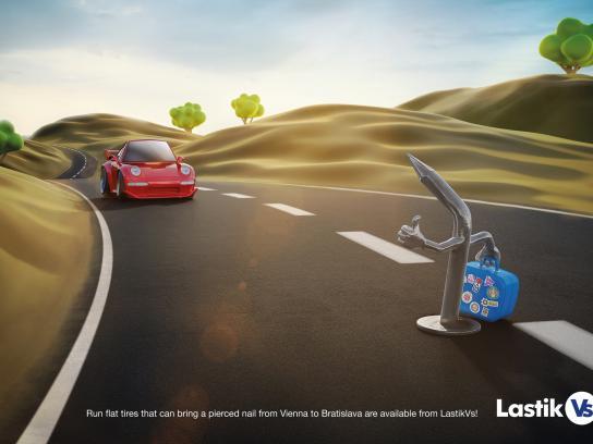 LastikVs Print Ad - The hitchhiker nail
