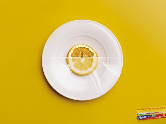 Ziploc Print Ad -  Lemon