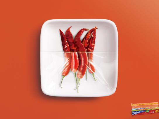 Ziploc Print Ad -  Pepper