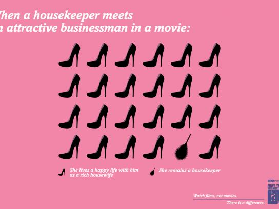 NYILFF Outdoor Ad -  When a latin housekeeper meets an attractive businessman