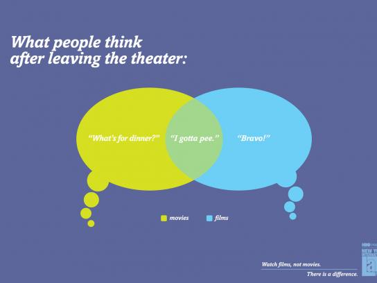 NYILFF Outdoor Ad -  What people think after leaving the theater