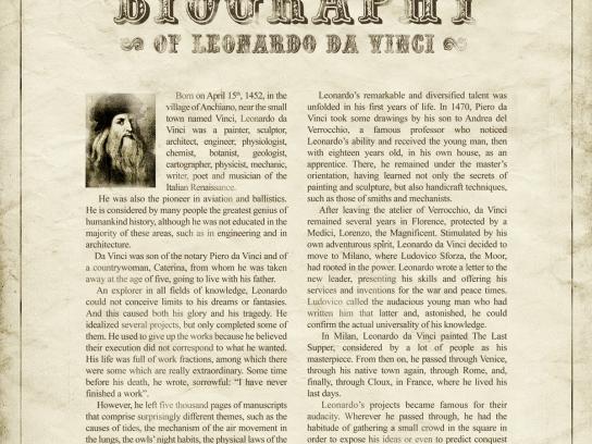 GGB Print Ad -  Homosexual Biography, Leonardo Da Vinci