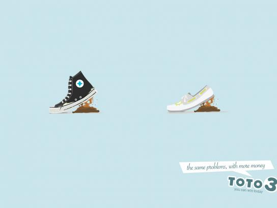 Toto 3 Print Ad -  Shoes