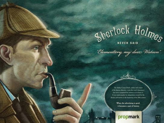 Propmark Print Ad -  Sherlock Holmes