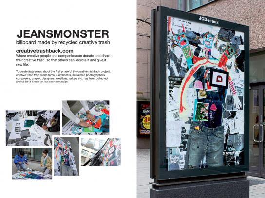creativetrashback Outdoor Ad -  Jeansmonster