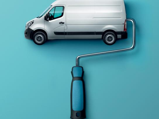 Opel Print Ad -  Paint roller