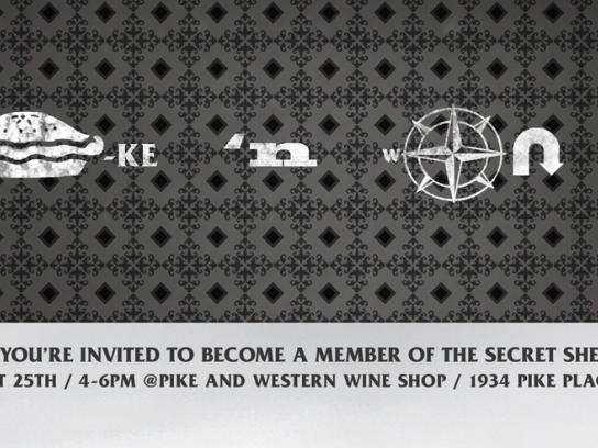 Sherry Council of America Print Ad -  Secret Sherry Society, Code 1