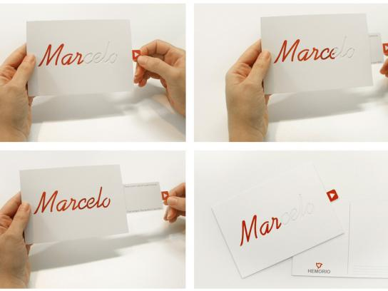 Hemorio Direct Ad -  Blood donation card