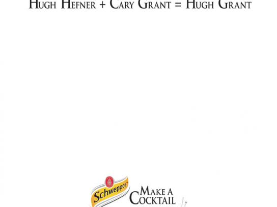 Schweppes Print Ad -  Hugh Grant