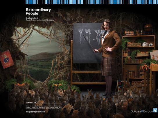 Douglas & Gordon Print Ad -  Extraordinary People, 2