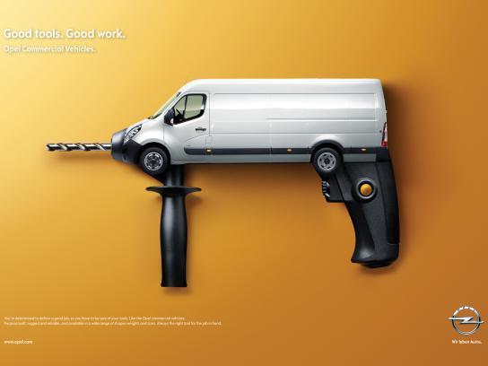 Opel Print Ad -  Drill