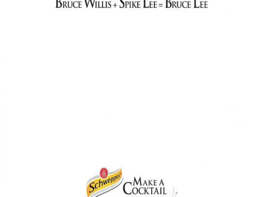 Schweppes Print Ad -  Bruce Lee