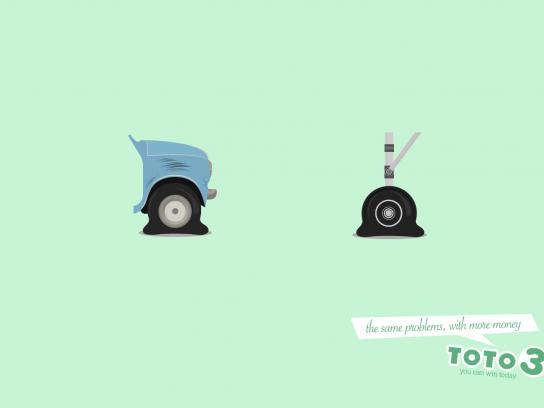 Toto 3 Print Ad -  Wheels