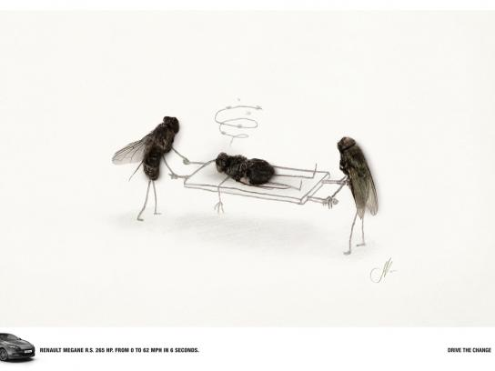 Renault Print Ad -  Flies, Ambulance