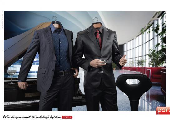 Parx Print Ad -  Hanger-heads, 3