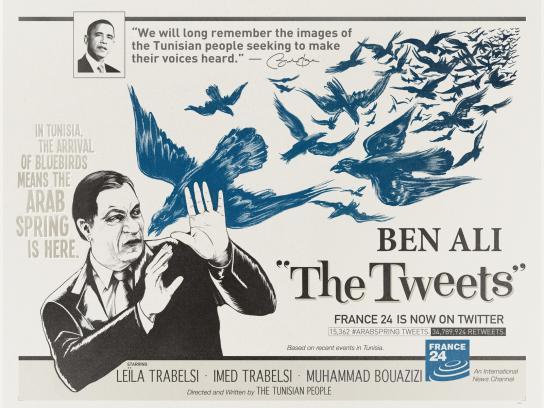France 24 Print Ad -  The Birds, Ben Ali