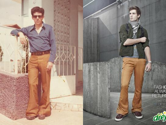 Dreft Print Ad -  Fashion Always Returns, Bell bottom pants