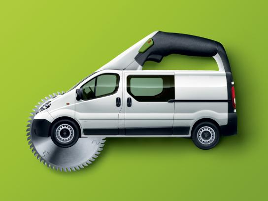 Opel Print Ad -  Saw