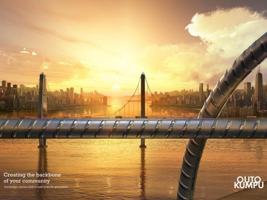 Outokumpu Print Ad -  Bridge