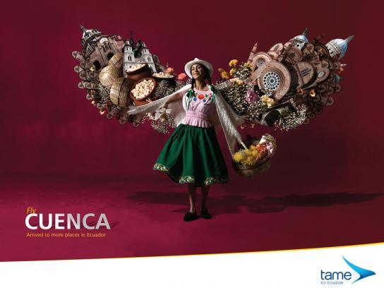 Tame Ecuador Airlines Print Ad -  Fly Cuenca