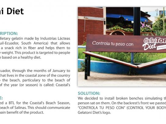 GelaToni Diet Ambient Ad -  Bench
