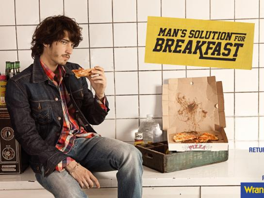 Wrangler Print Ad -  Man's solution for breakfast
